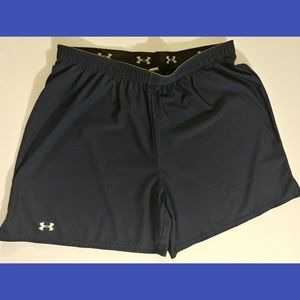 Under Armour Navy blue athletic shorts Small